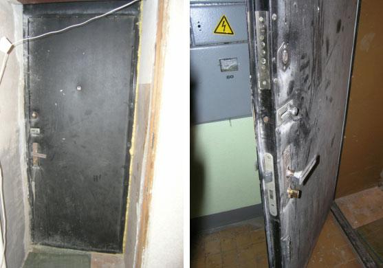 замена замка и обивки у двери на фото