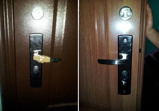 нужна замена сломанной дверной ручки фото