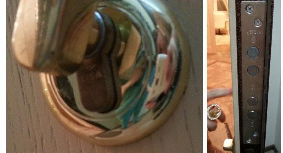 заменить личинку в замке двери фото