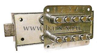 ЗКП  Замок-защелка кодовый кнопочный или кодово - механический замок меттэм.