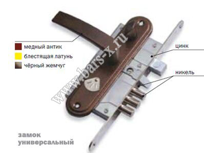 устройство накладного замка схема