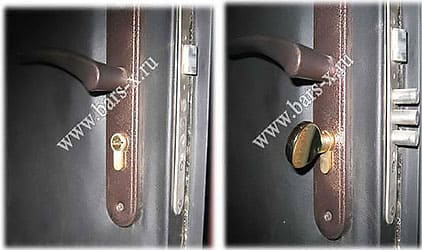 замена дверного замка с ручкой