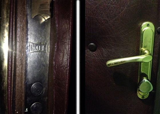 фото поврежденного замка в двери