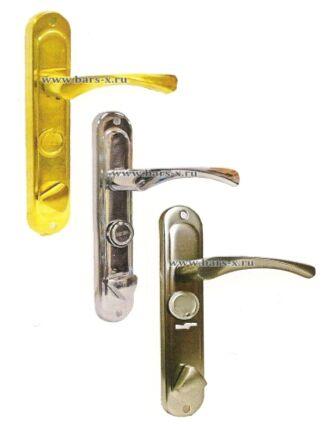 НР 61/0723-S-C Ручки на планке дверные для замков ЗВ9 144.1.0/ЗВ9 144.0.0/ЗВ9 164.0.0