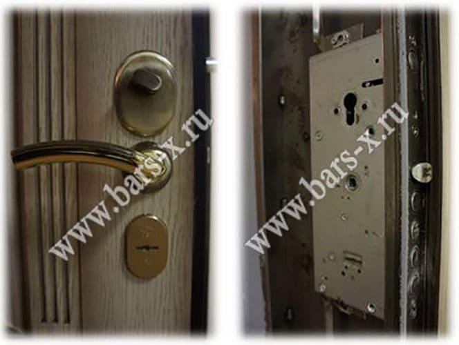 заменить замок на входной металлической