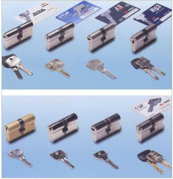 Цилиндры и ключи безопасности